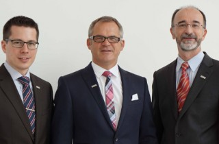 Michael Hirth, Ewald Mader und Dr. Bloch (von links)