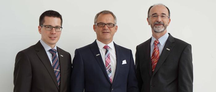 Michael Hirth, Ewald Mader und Dr. Bloch (von links)