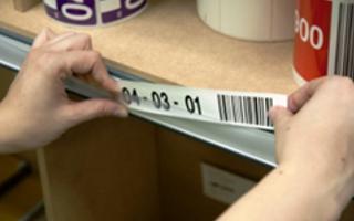 Lagerkennzeichnung Etikettenträger