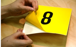 Lagerkennzeichnung selbstklebende Etiketten