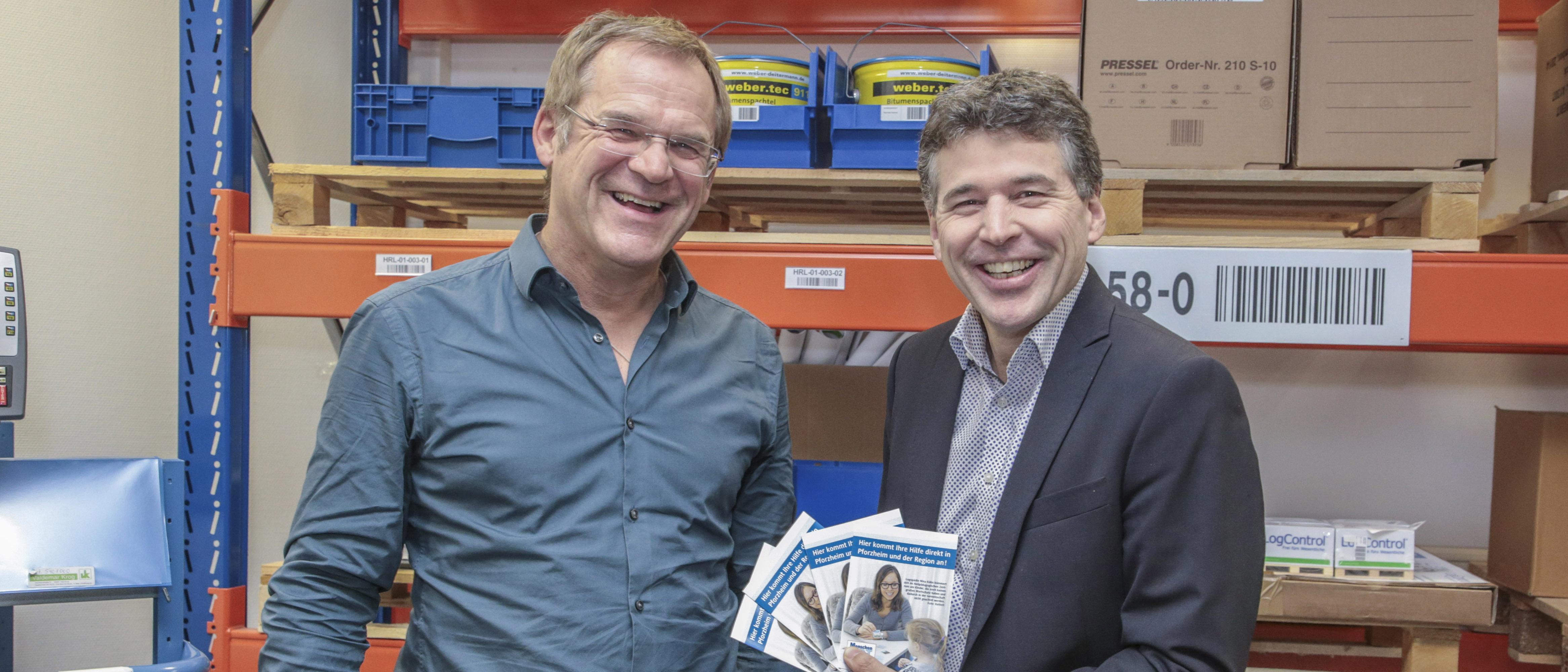 Logistik-Profi Ewald Mader übergibt Spende