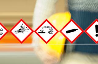 Gefahrstoff-Symbole zur sicheren Lagerung