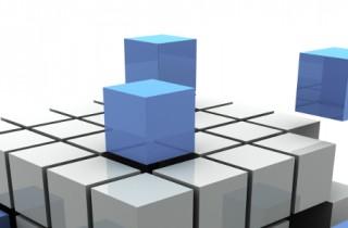 Würfel mit Lücken wie ein ERP-System